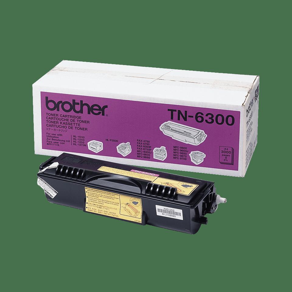 Oryginalny wysokowydajny czarny toner Brother TN-6300