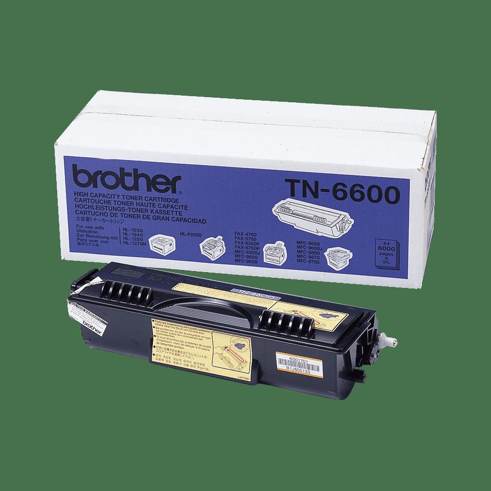 Oryginalny wysokowydajny czarny toner Brother TN-6600