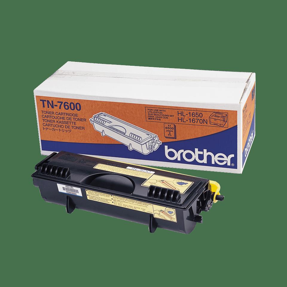 Oryginalny wysokowydajny czarny toner Brother TN-7600