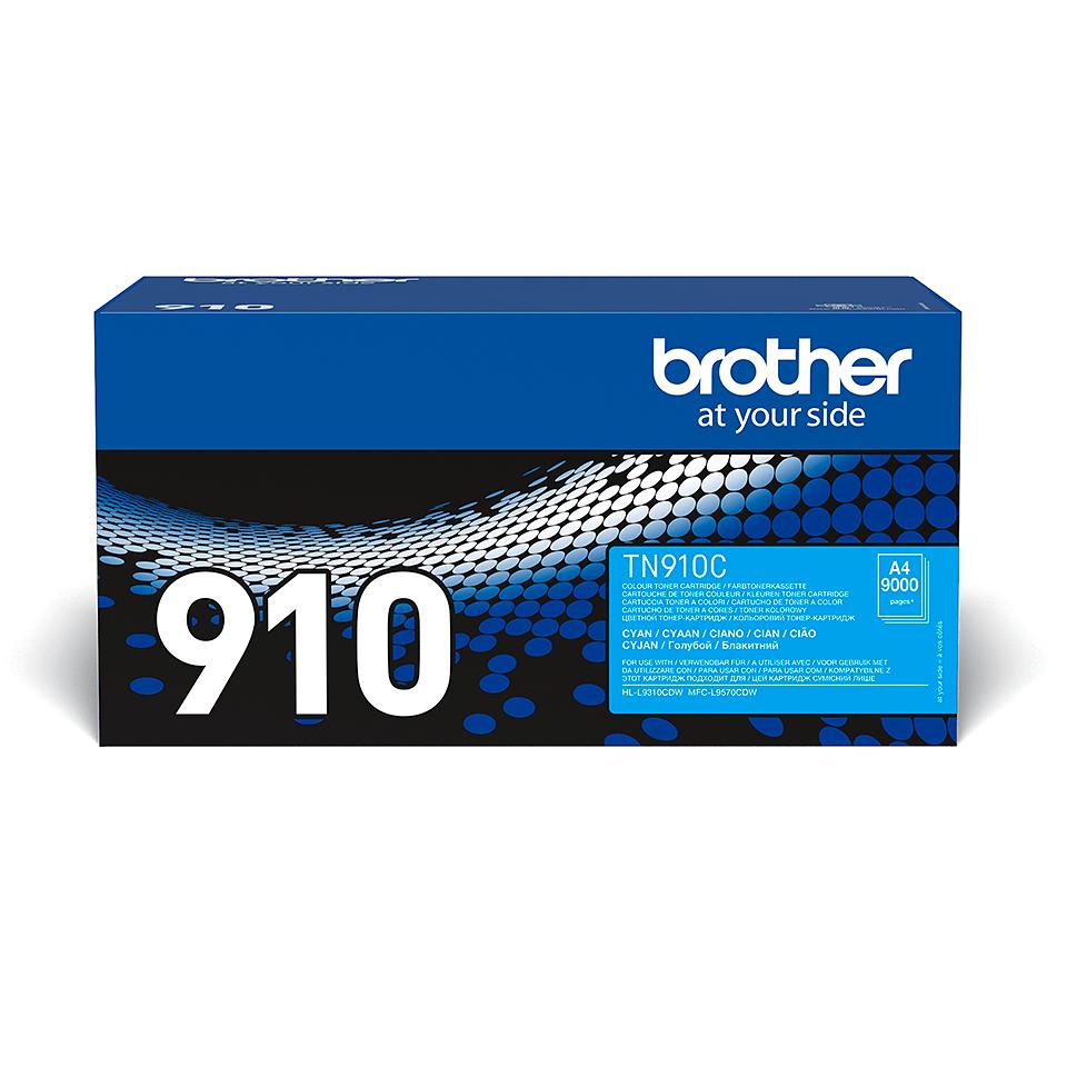 Oryginalny toner TN-910C firmy Brother - cyan
