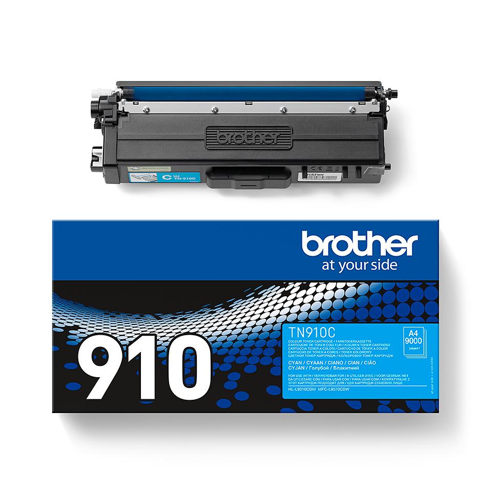 Oryginalny toner TN-910C firmy Brother - cyan 2