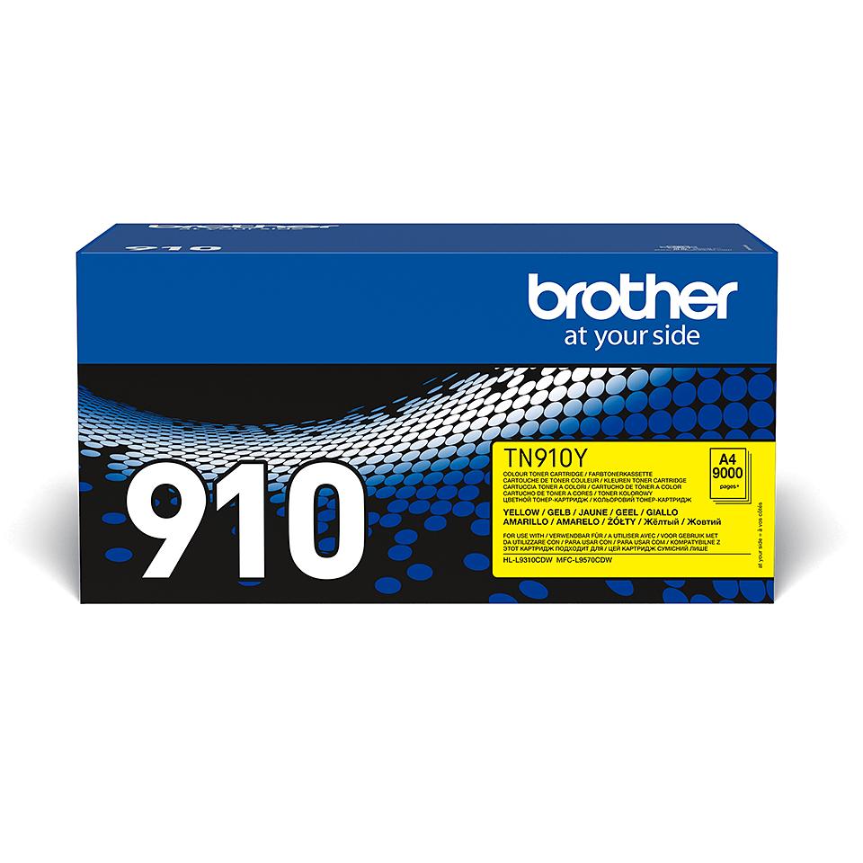 Oryginalny żółty toner TN-910Y firmy Brother