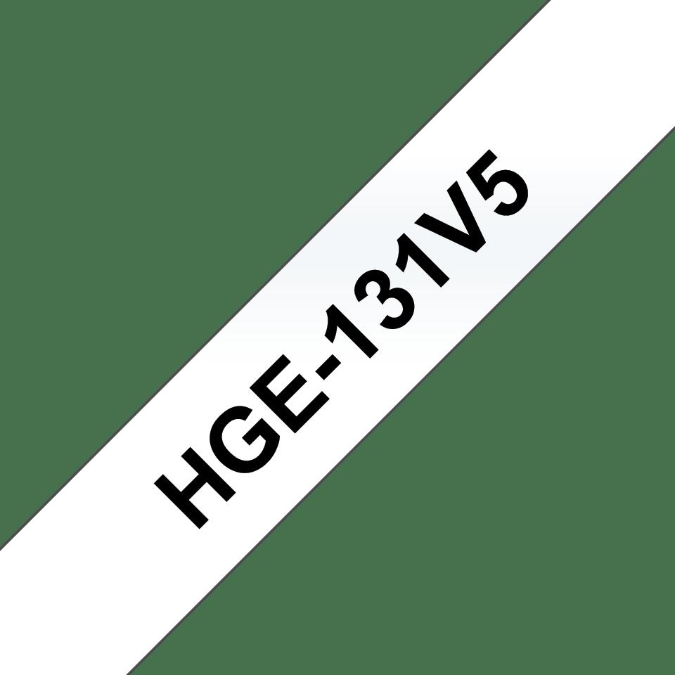 Oryginalne taśmy HGe-131V5 firmy Brother. Czarny nadruk na wysokiej jakości przezroczystym tle, 12mm szerokości.