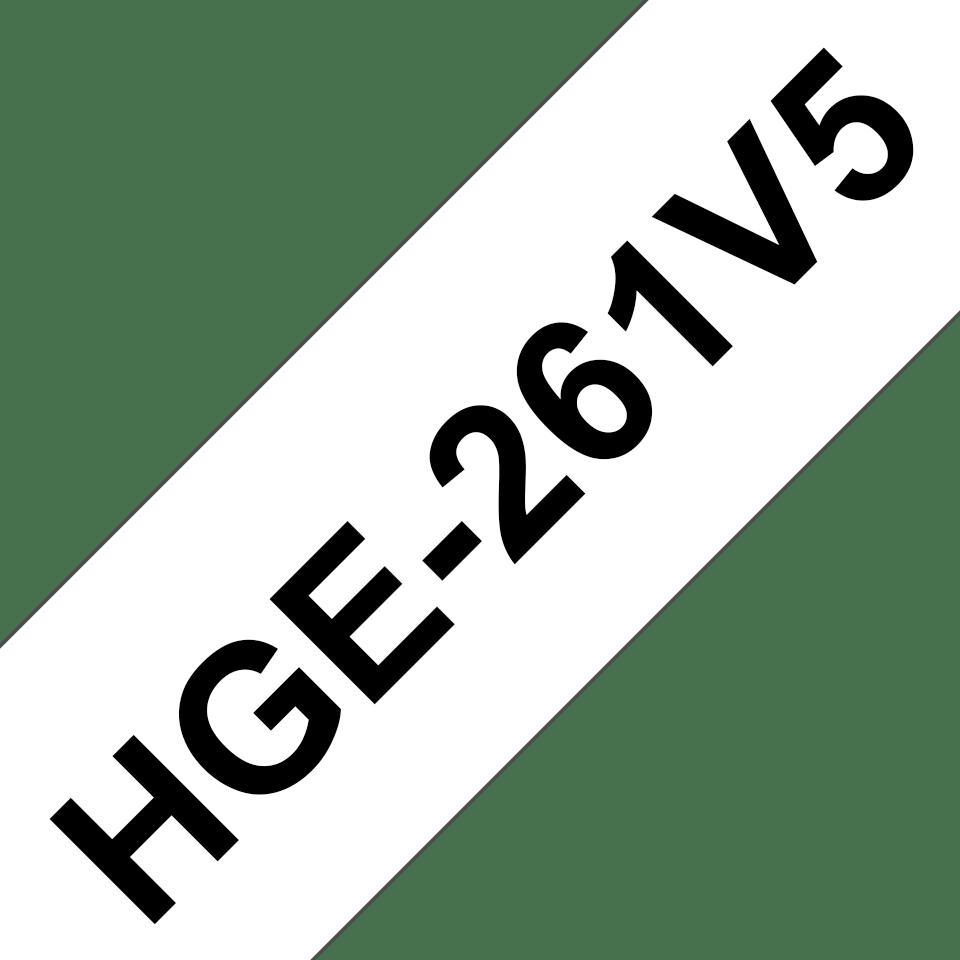 Oryginalne taśmy HGe-261V5 firmy Brother – czarny nadruk na białym tle, 36mm szerokości