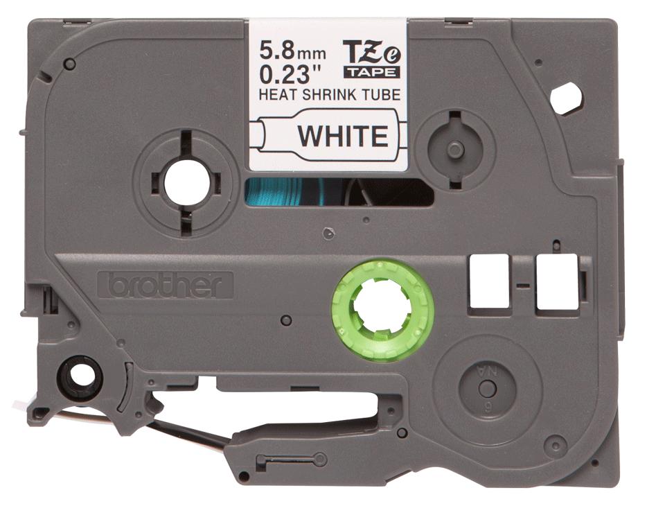 Oryginalna rurka termokurczliwa HSe-211 firmy Brother – czarny nadruk na białym tle, 5.8mm szerokości