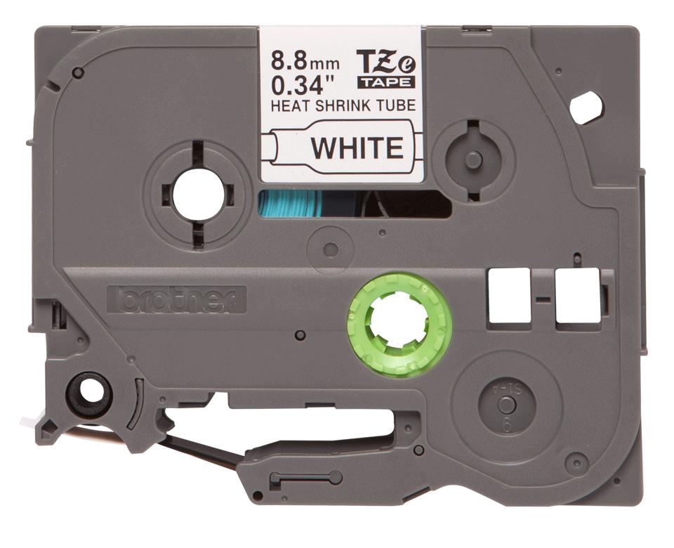 Oryginalna rurka termokurczliwa HSe-221 firmy Brother – czarny nadruk na białym tle, 8.8mm szerokości