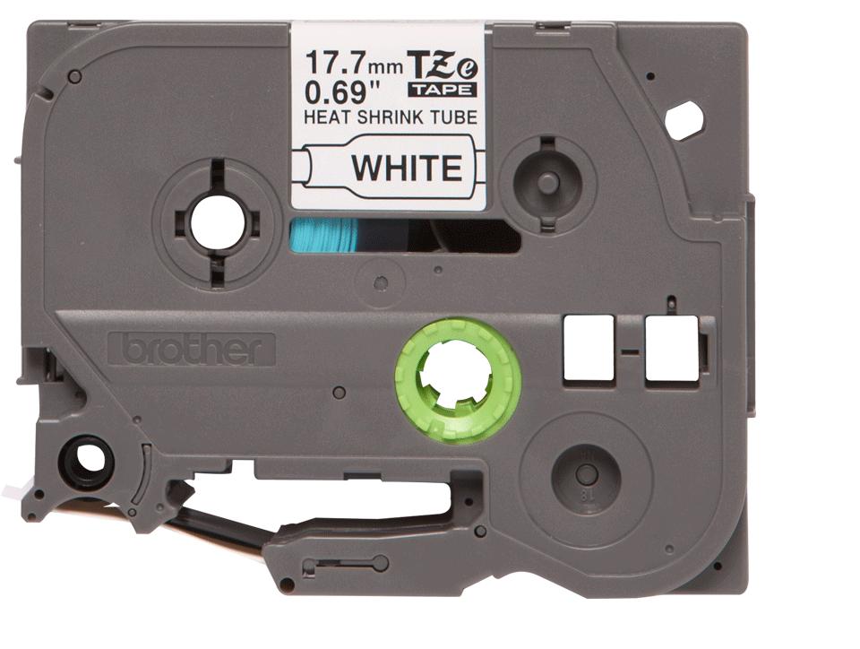 Oryginalna rurka termokurczliwa HSe-241 firmy Brother – czarny nadruk na białym tle, 17.7mm szerokości