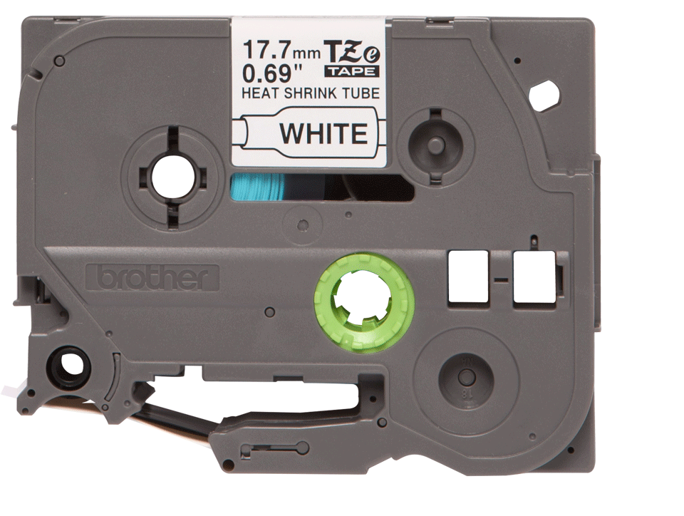Oryginalna rurka termokurczliwa HSe-241 firmy Brother – czarny nadruk na białym tle, 17.7mm szerokości 2