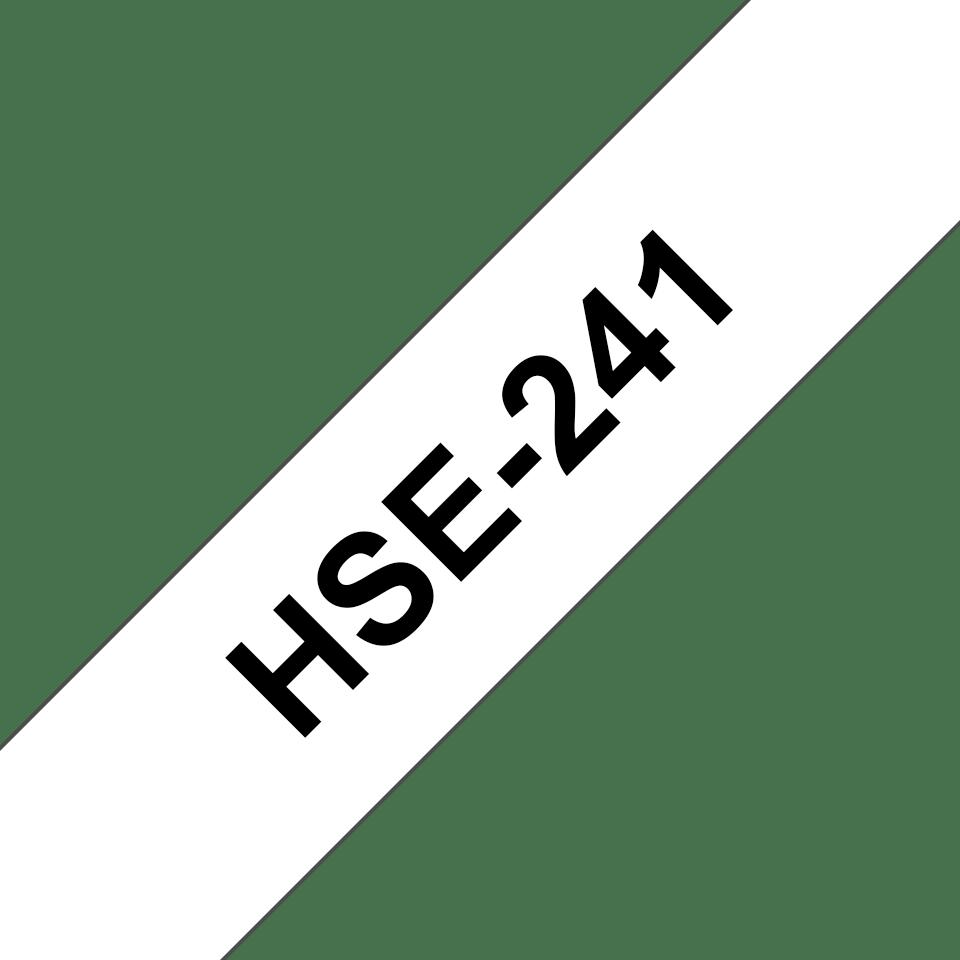 Oryginalna rurka termokurczliwa HSe-241 firmy Brother – czarny nadruk na białym tle, 17.7mm szerokości 3