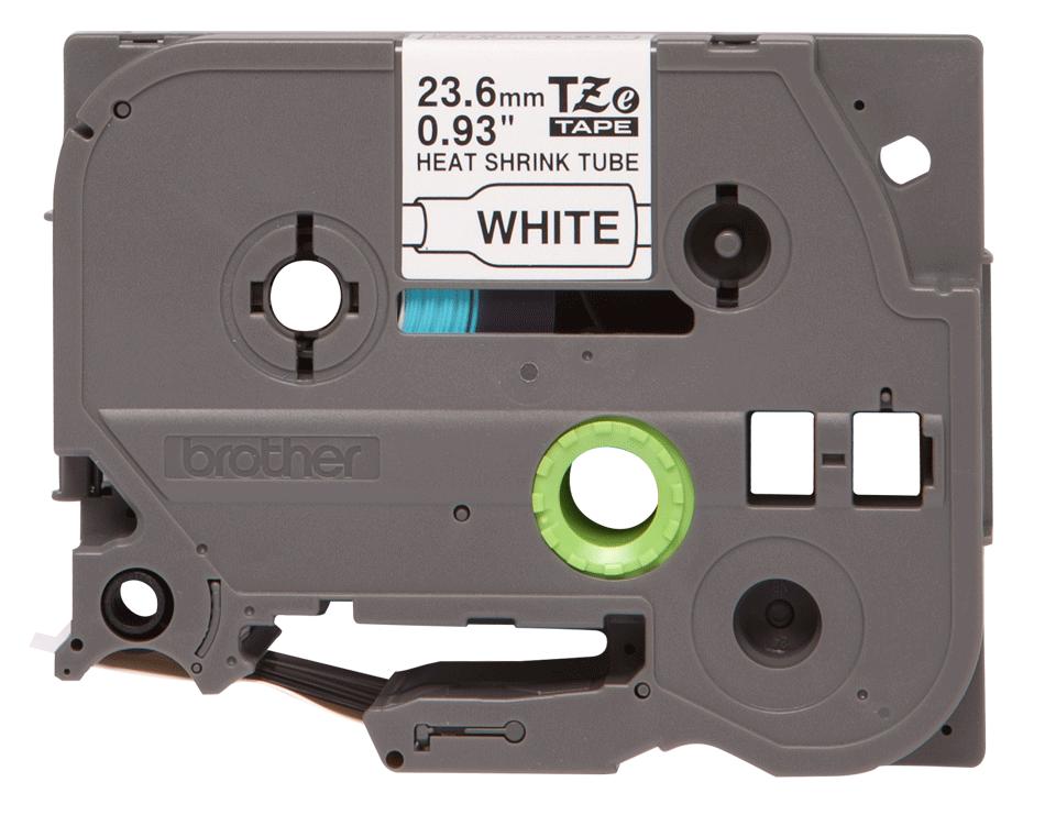 Oryginalna rurka termokurczliwa HSe-251, czarny nadruk na białym tle o szerokości 23.6mm