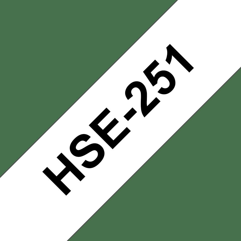 Oryginalna rurka termokurczliwa HSe-251, czarny nadruk na białym tle o szerokości 23.6mm 3