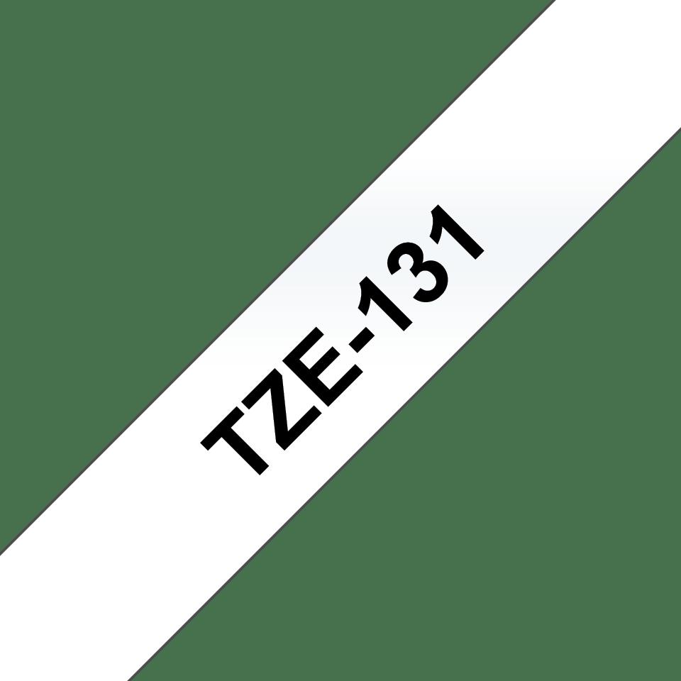 Oryginalna taśma TZe-131 – czarny nadruk na przezroczystym tle, 12mm szerokości 3