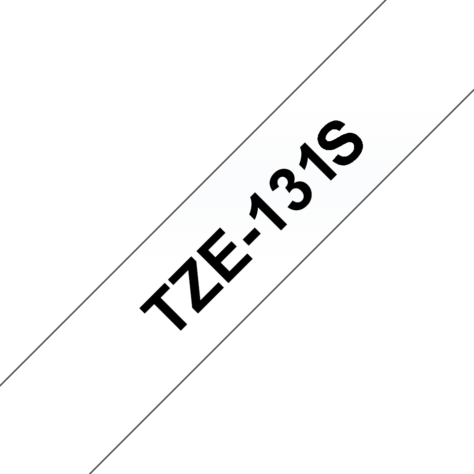 Oryginalna taśma Brother TZe-131S do drukarek etykiet – czarny nadruk na przezroczytym tle, 12 mm szerokości 3