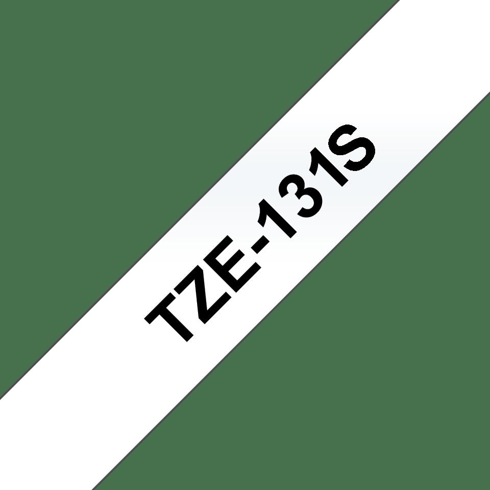 Oryginalna taśma Brother TZe-131S do drukarek etykiet – czarny nadruk na przezroczytym tle, 12 mm szerokości
