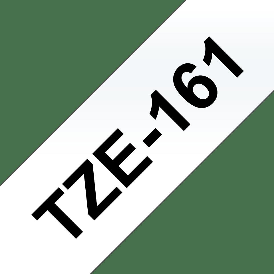 Oryginalna taśma TZe-161 firmy Brother – czarny nadruk na przezroczystym tle, 36mm szerokości
