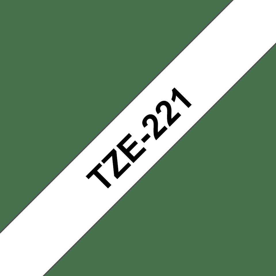 Oryginalna taśma TZe-221 firmy Brother - czarny nadruk na białym tle, 9 mm szerkości 3