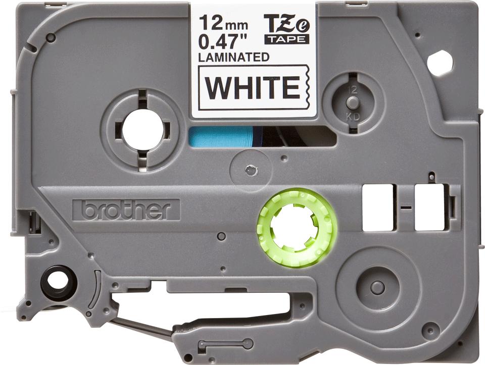 Oryginalna taśma TZe-231 firmy Brother – czarny nadruk na białym tle, 12mm szerokości