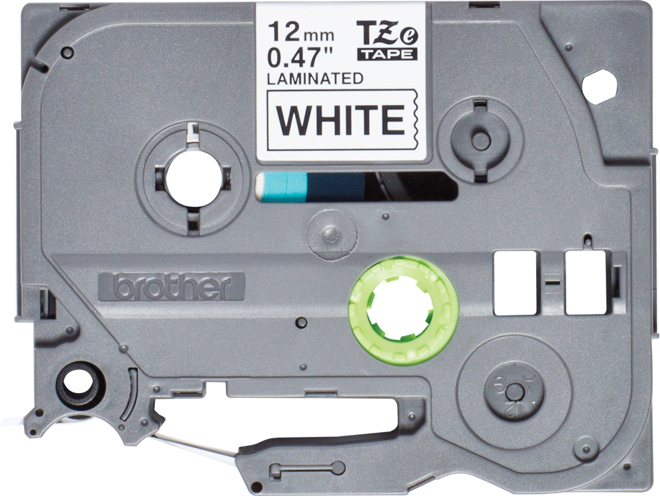 Oryginalna taśma do etykietowania Brother TZe-231S – czarny nadruk na białym tle, szerokość 12mm 2