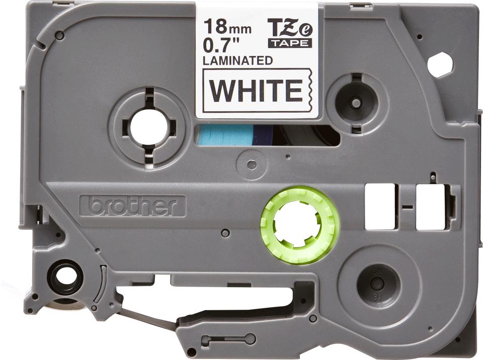Oryginalna taśma TZe-241 firmy Brother – czarny nadruk na białym tle, 18mm szerokości
