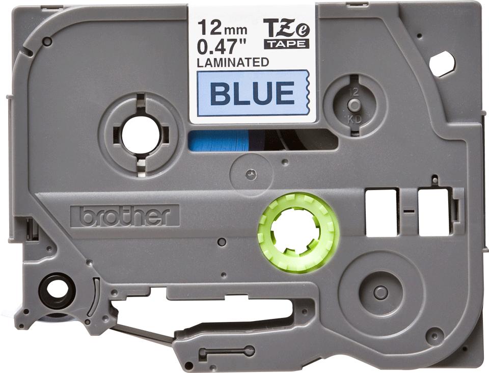 Oryginalna taśma TZe-531 firmy Brother – czarny nadruk na niebieskim tle, 12mm szerokości