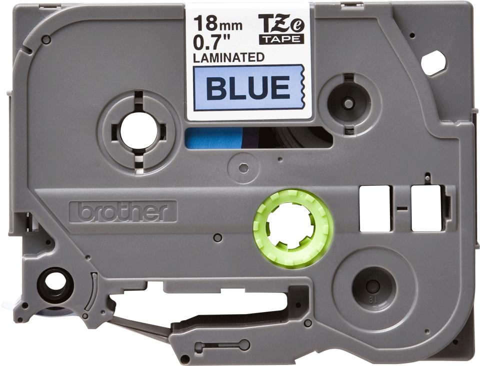 Oryginalna taśma TZe-541 firmy Brother – czarny nadruk na niebieskim tle, 18mm szerokości