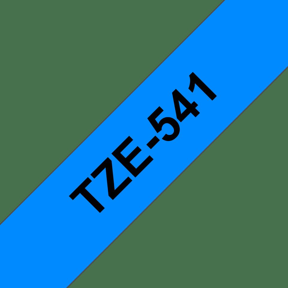 Oryginalna taśma TZe-541 firmy Brother – czarny nadruk na niebieskim tle, 18mm szerokości 3