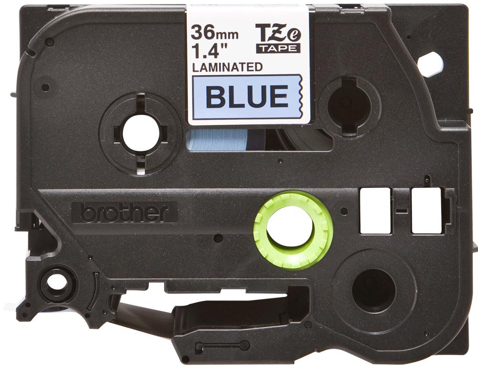 Oryginalna taśma TZe-561 firmy Brother – czarny nadruk na niebieskim tle, 36mm szerokości 2
