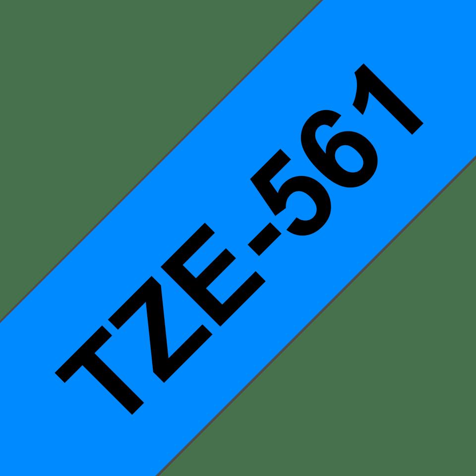 Oryginalna taśma TZe-561 firmy Brother – czarny nadruk na niebieskim tle, 36mm szerokości 3