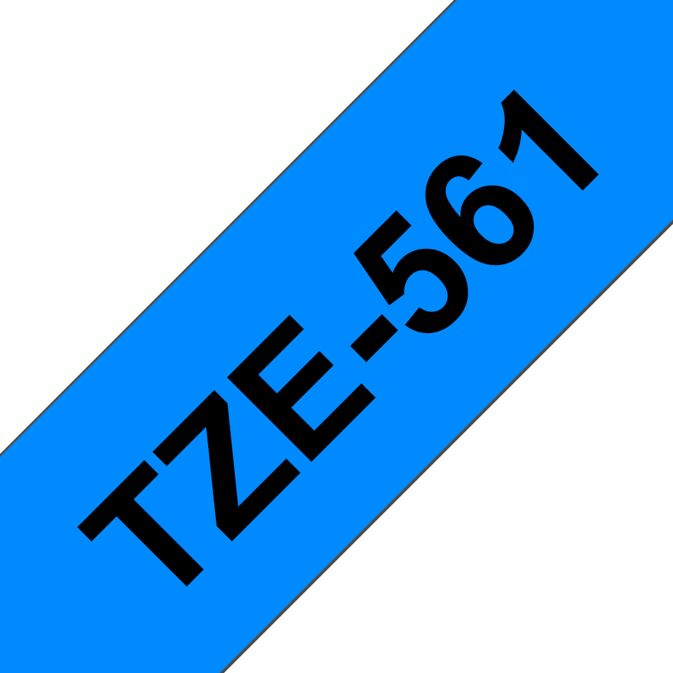 Oryginalna taśma TZe-561 firmy Brother – czarny nadruk na niebieskim tle, 36mm szerokości