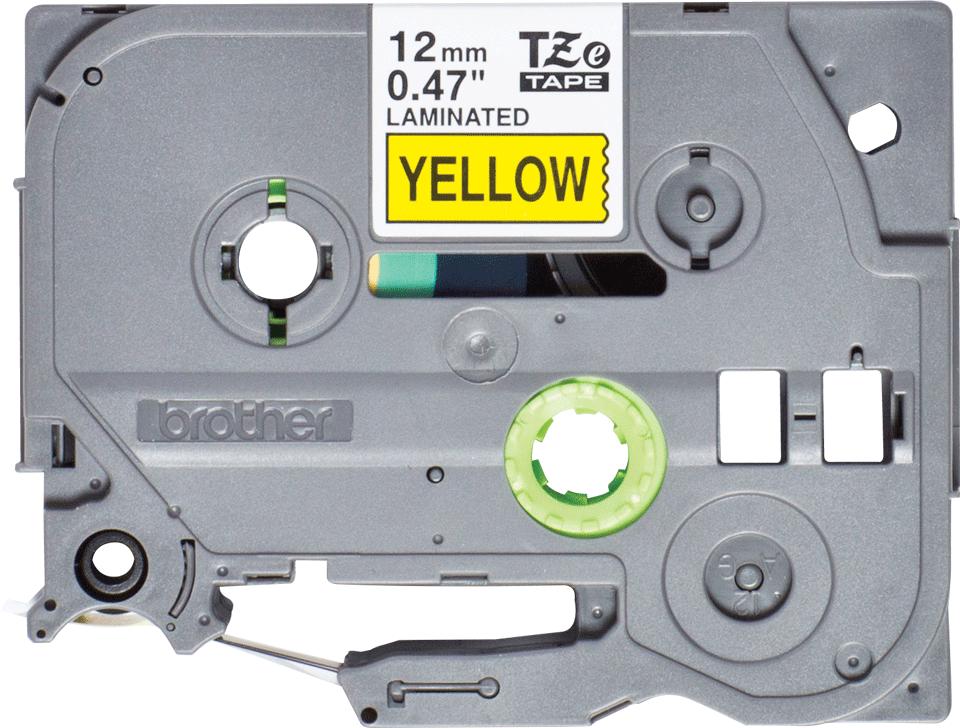 Oryginalna taśma do drukarek etykiet Brother TZe-631S – czarny nadruk na żółtym tle, 12 mm szerokości
