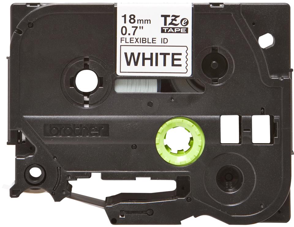 Oryginalna taśma identyfikacyjna Flexi ID TZe-FX241 firmy Brother – czarny nadruk na białym tle, 18mm szerokości 2
