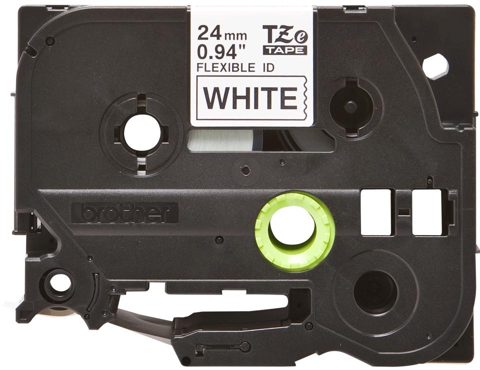 Oryginalna taśma identyfikacyjna Flexi ID TZe-FX251 firmy Brother – czarny nadruk na białym tle, 24mm szerokości