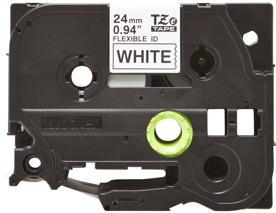 Oryginalna taśma identyfikacyjna Flexi ID TZe-FX251 firmy Brother – czarny nadruk na białym tle, 24mm szerokości 2