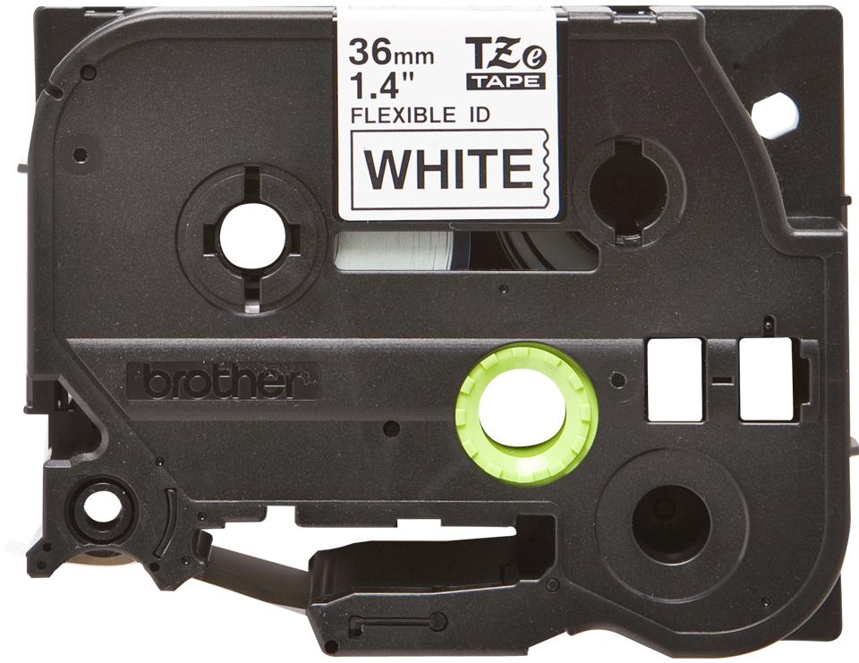Oryginalna taśma identyfikacyjna Flexi ID TZe-FX261 firmy Brother – czarny nadruk na białym tle, 36mm szerokości