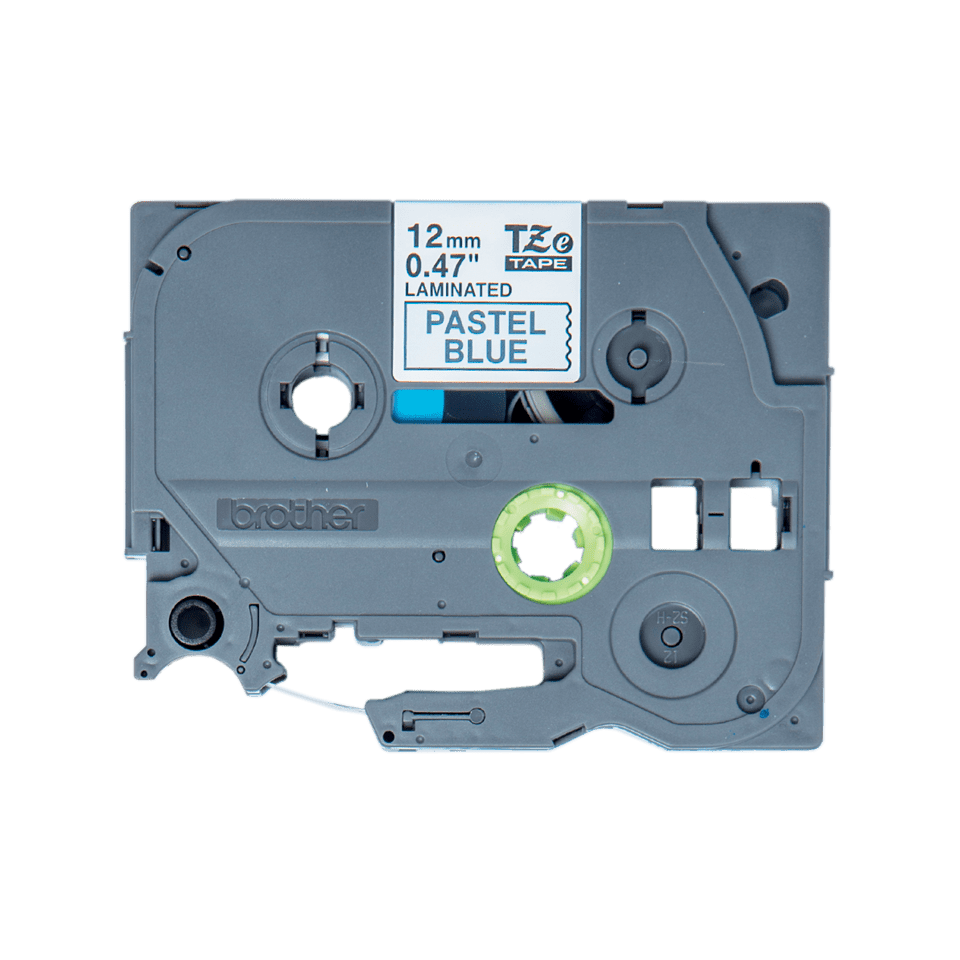 Oryginalna taśma TZe-MQ531 firmy Brother – czarny nadruk na jasno niebieskim tle, 12mm szerokości