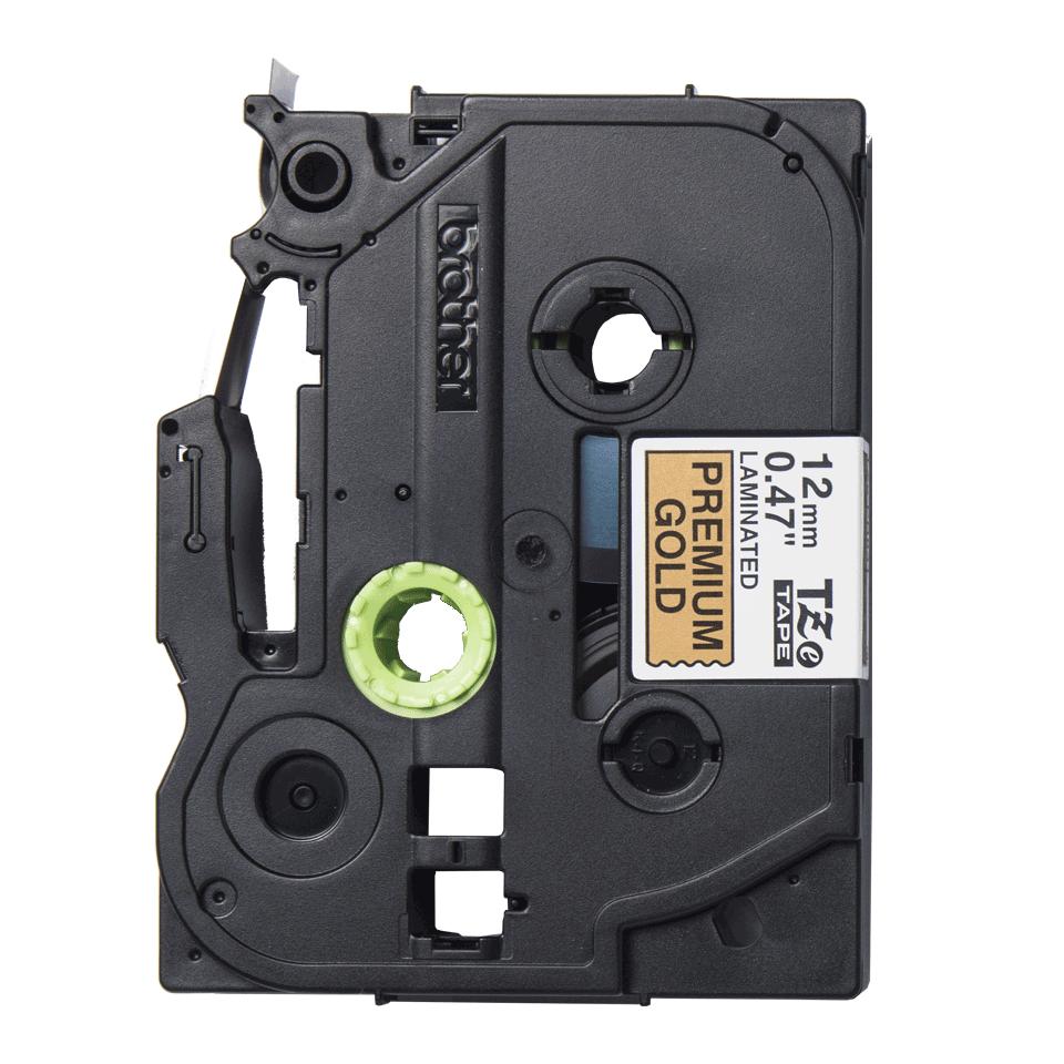 Oryginalna taśma premium TZe-PR831 firmy Brother – czarny nadruk na złotym tle, 12 mm szerokości 2
