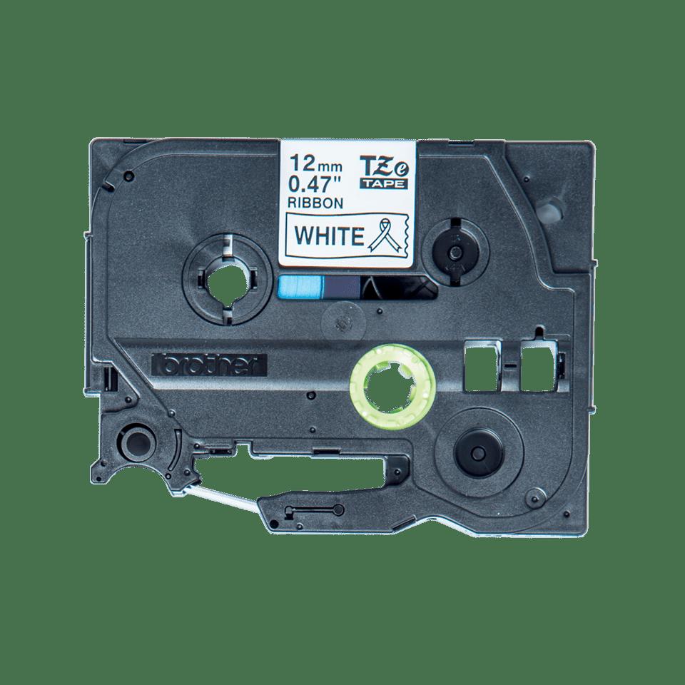 Oryginalna taśma wstążkowa TZe-R231 firmy Brother – czarny nadruk na biały tle, 12mm szerokości