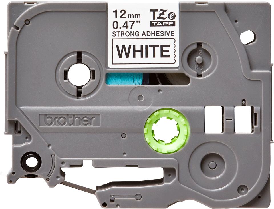 Oryginalna taśma do drukarek etykiet Brother TZe-S231  – czarny nadruk na białym tle, 12 mm szerokości