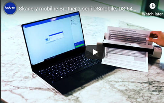 DS-940DW - bezprzewodowy dwustronny przenośny skaner firmy Brother z serii DSmobile 9